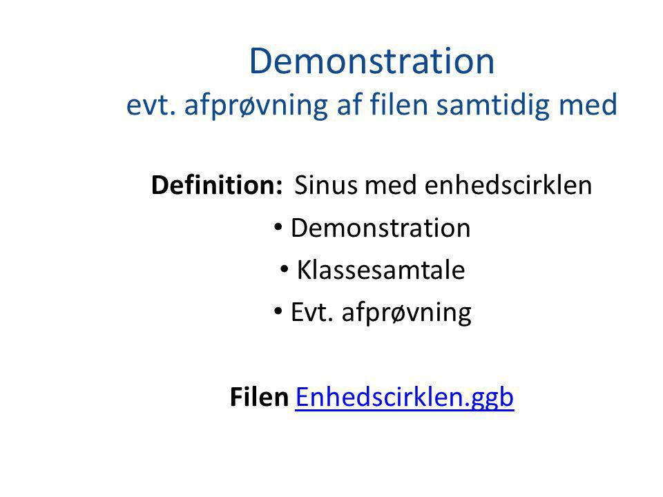 Demonstration evt.