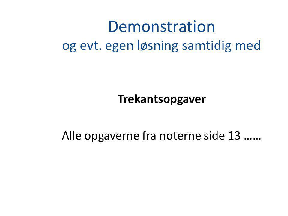 Demonstration og evt.