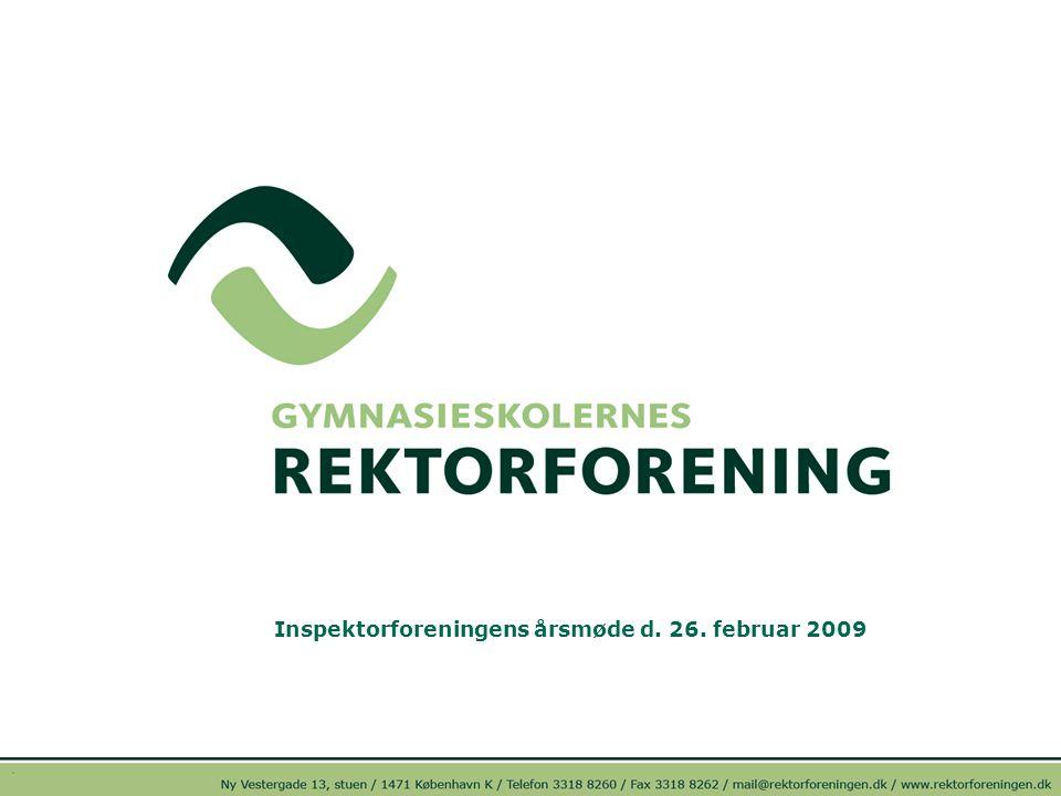 Inspektorforeningens årsmøde d. 26. februar 2009