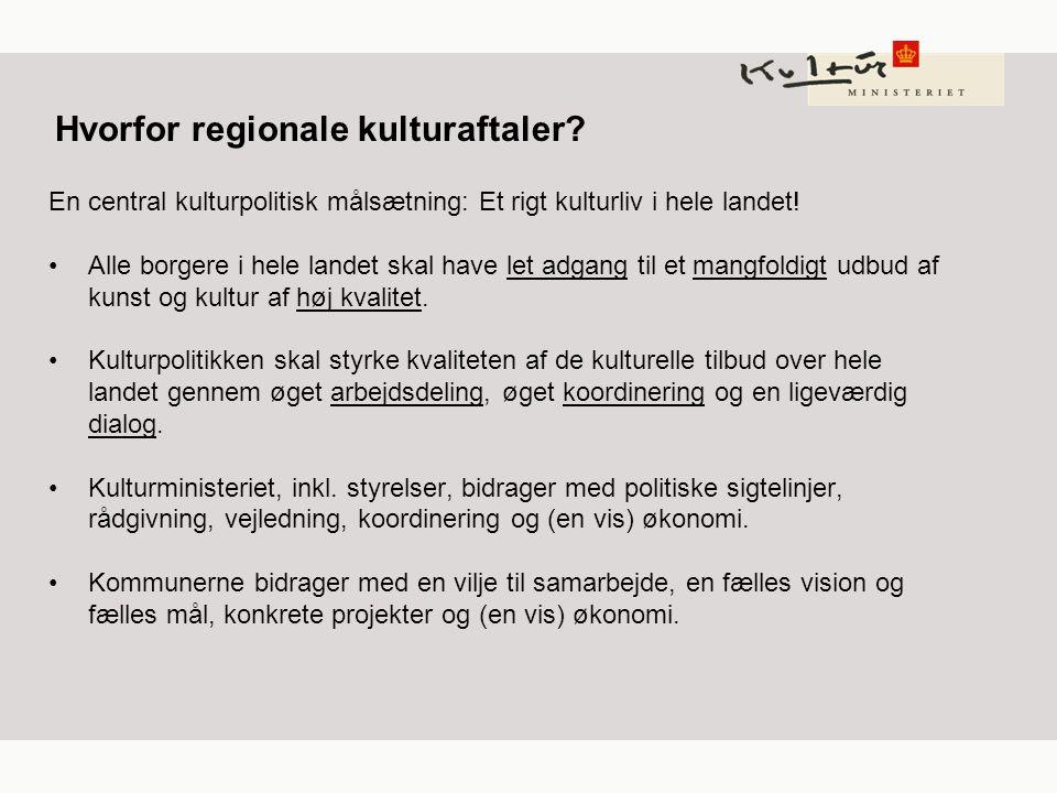 Hvorfor regionale kulturaftaler.