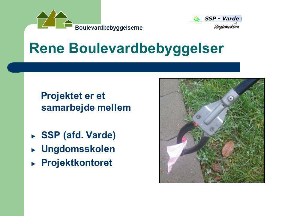 Rene Boulevardbebyggelser Projektet er et samarbejde mellem SSP (afd.