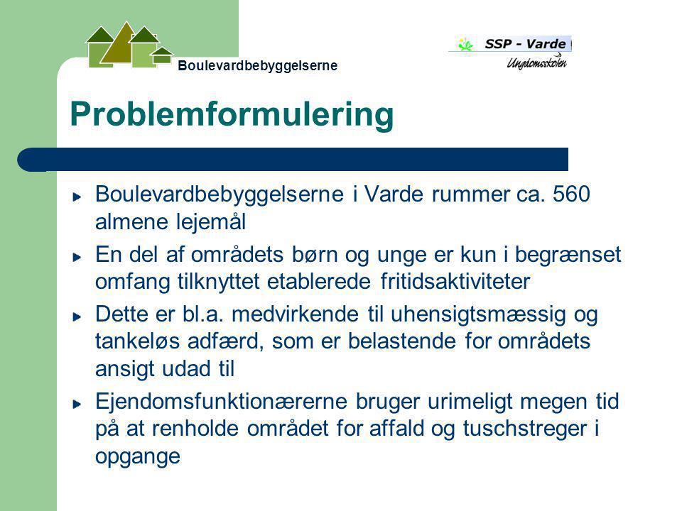 Problemformulering Boulevardbebyggelserne i Varde rummer ca.