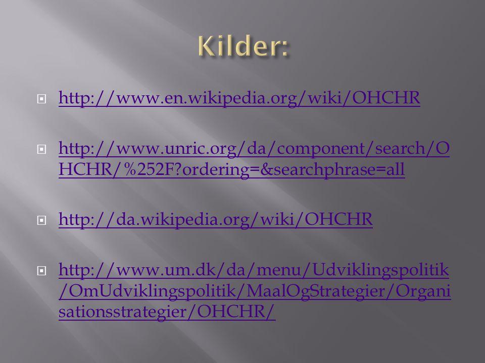  http://www.en.wikipedia.org/wiki/OHCHR http://www.en.wikipedia.org/wiki/OHCHR  http://www.unric.org/da/component/search/O HCHR/%252F ordering=&searchphrase=all http://www.unric.org/da/component/search/O HCHR/%252F ordering=&searchphrase=all  http://da.wikipedia.org/wiki/OHCHR http://da.wikipedia.org/wiki/OHCHR  http://www.um.dk/da/menu/Udviklingspolitik /OmUdviklingspolitik/MaalOgStrategier/Organi sationsstrategier/OHCHR/ http://www.um.dk/da/menu/Udviklingspolitik /OmUdviklingspolitik/MaalOgStrategier/Organi sationsstrategier/OHCHR/