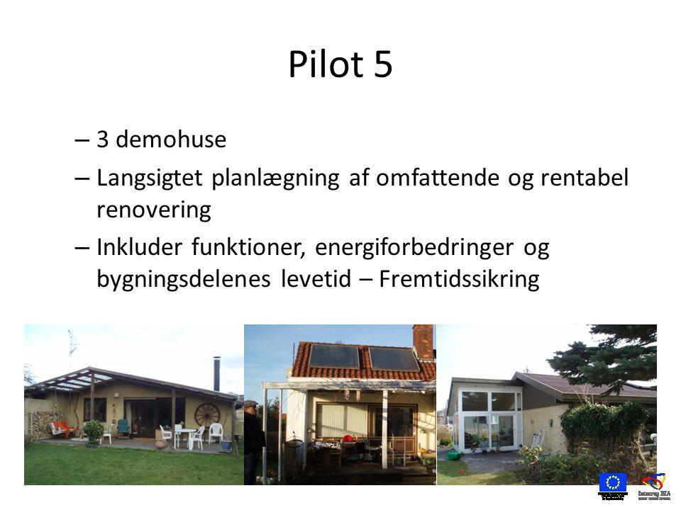 Pilot 5 – 3 demohuse – Langsigtet planlægning af omfattende og rentabel renovering – Inkluder funktioner, energiforbedringer og bygningsdelenes levetid – Fremtidssikring