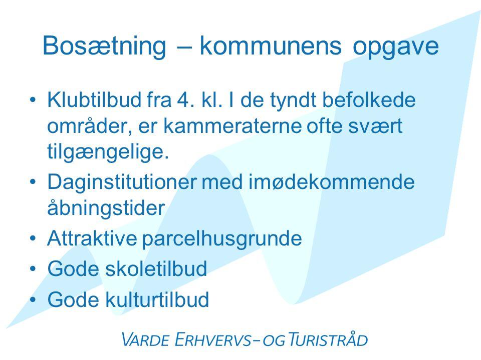 Bosætning – kommunens opgave •Klubtilbud fra 4. kl.