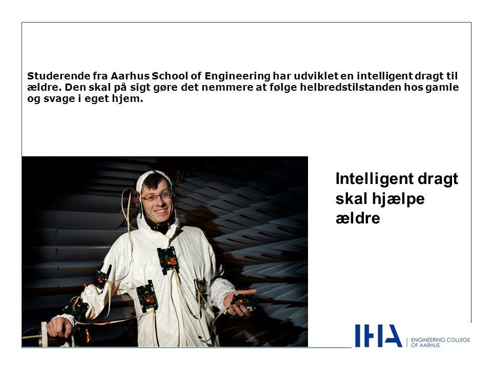 Studerende fra Aarhus School of Engineering har udviklet en intelligent dragt til ældre.