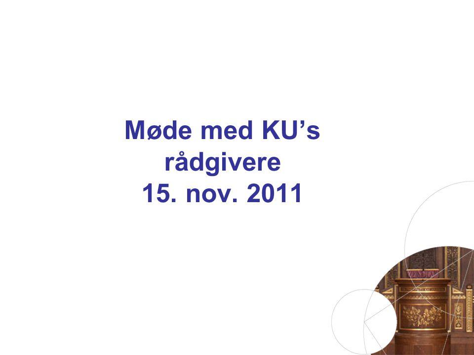 Møde med KU's rådgivere 15. nov. 2011