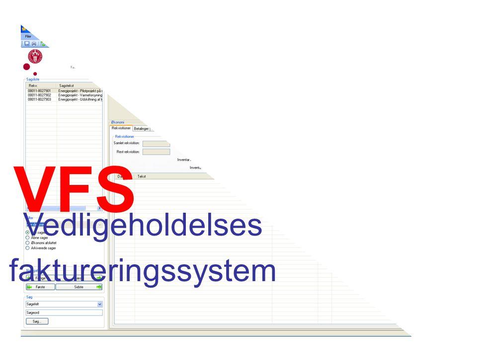 VFS Vedligeholdelses faktureringssystem