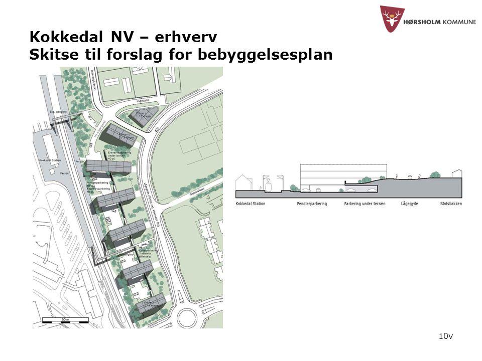10v Kokkedal NV – erhverv Skitse til forslag for bebyggelsesplan