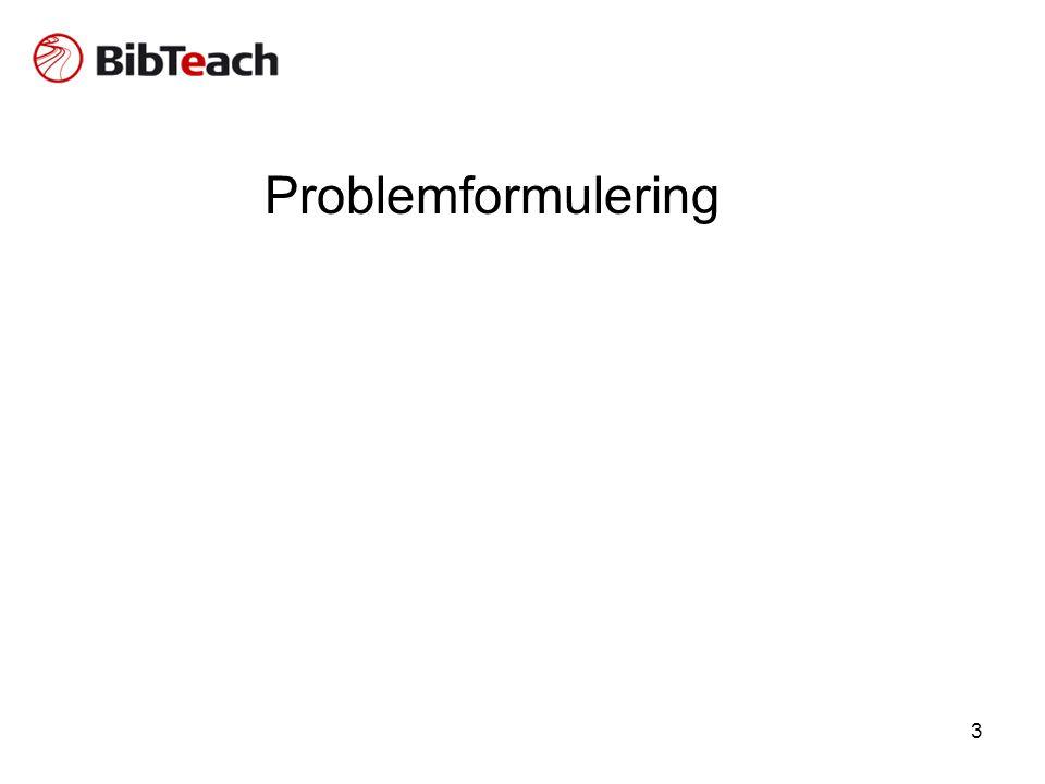 3 Problemformulering