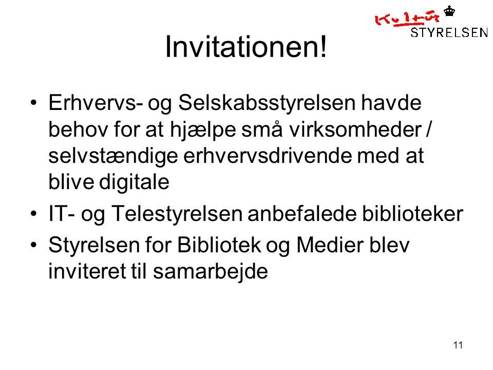 11 Invitationen.