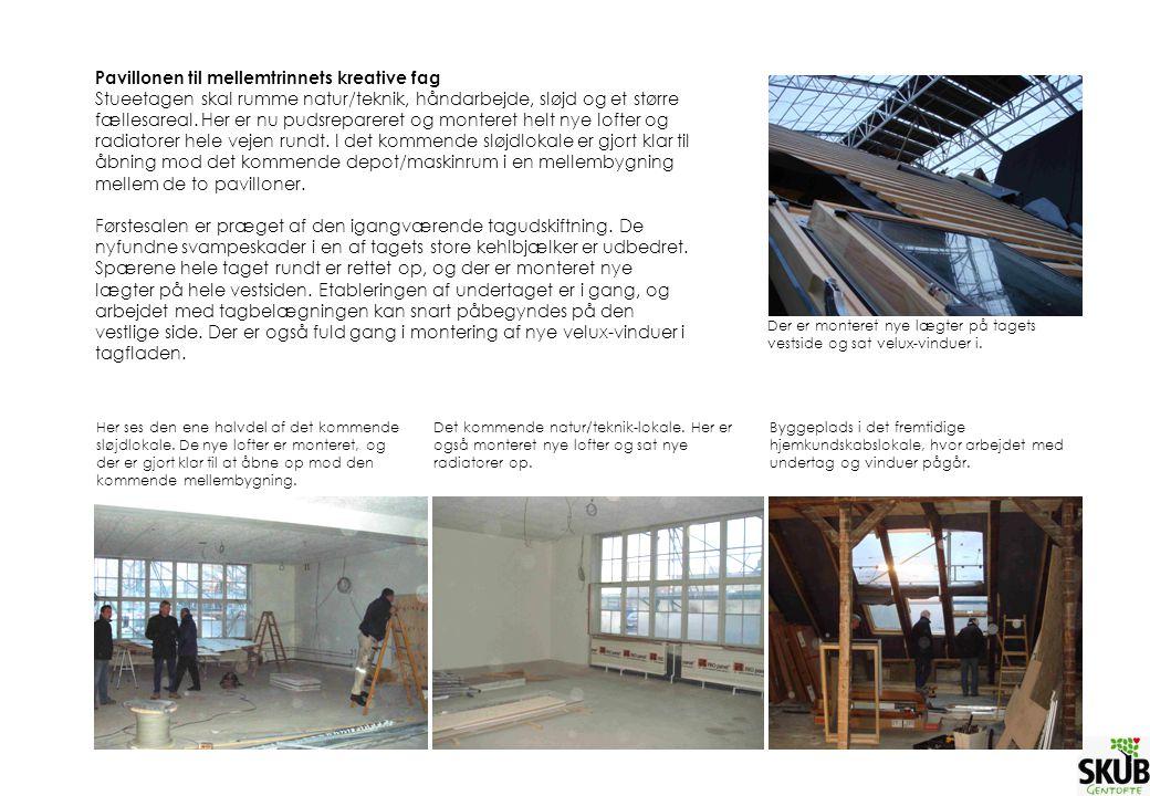Pavillonen til mellemtrinnets kreative fag Stueetagen skal rumme natur/teknik, håndarbejde, sløjd og et større fællesareal.