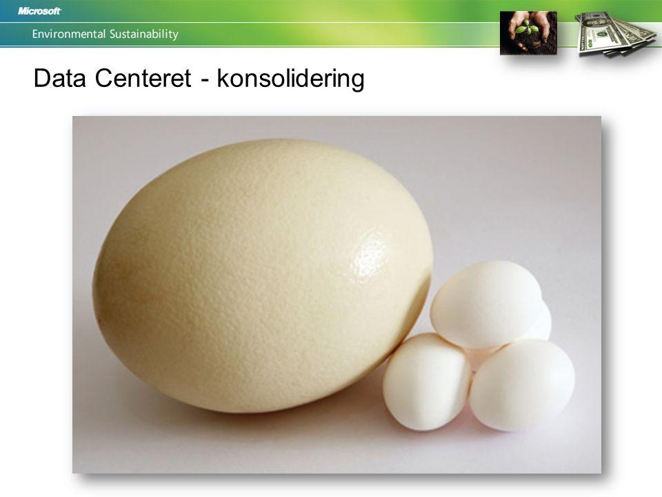 Data Centeret - konsolidering