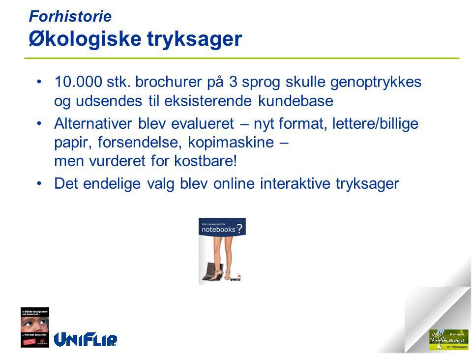 Forhistorie Økologiske tryksager •10.000 stk.
