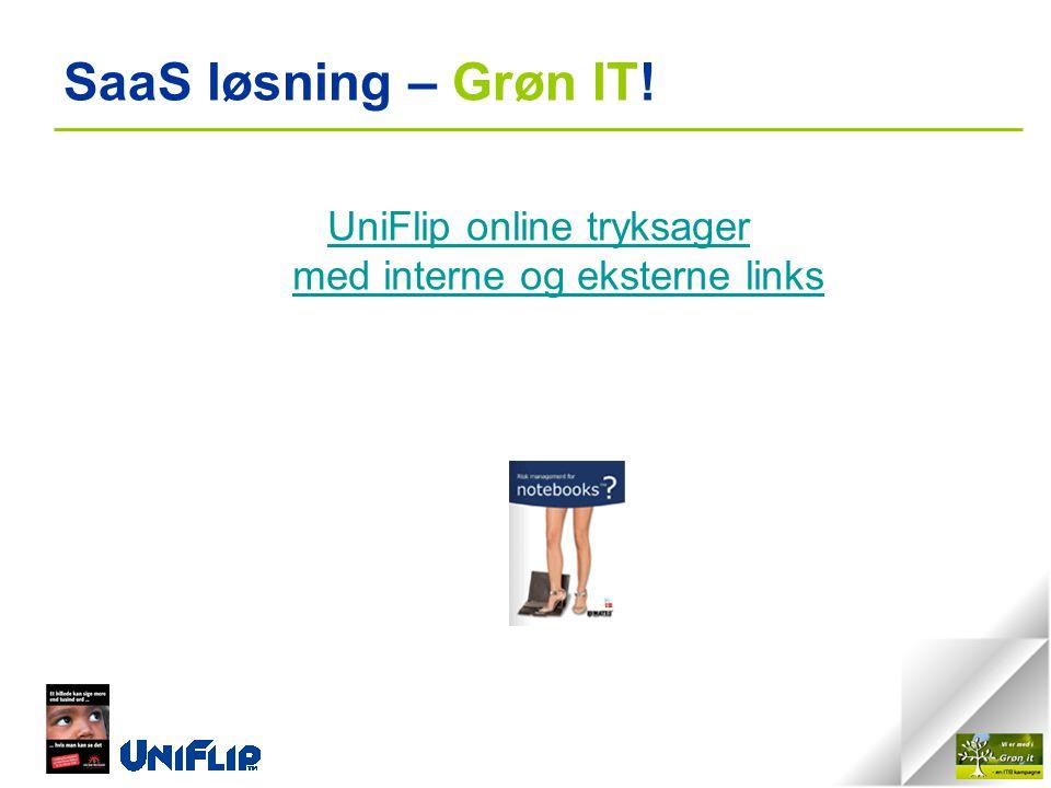 SaaS løsning – Grøn IT! UniFlip online tryksager med interne og eksterne links