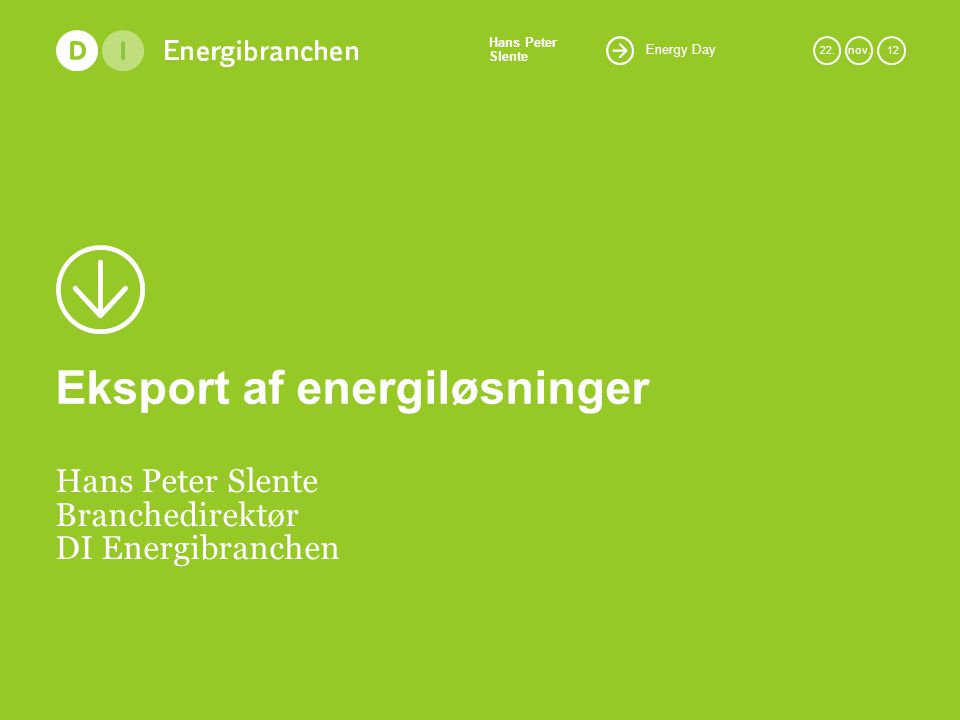 Energy Day Hans Peter Slente 22.nov.