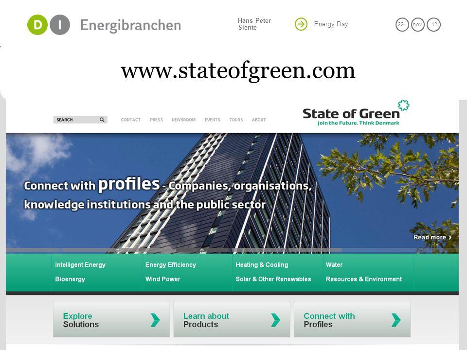 Energy Day 22..nov. 12 Hans Peter Slente 16 www.stateofgreen.com