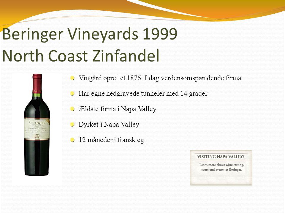 Beringer Vineyards 1999 North Coast Zinfandel Vingård oprettet 1876.