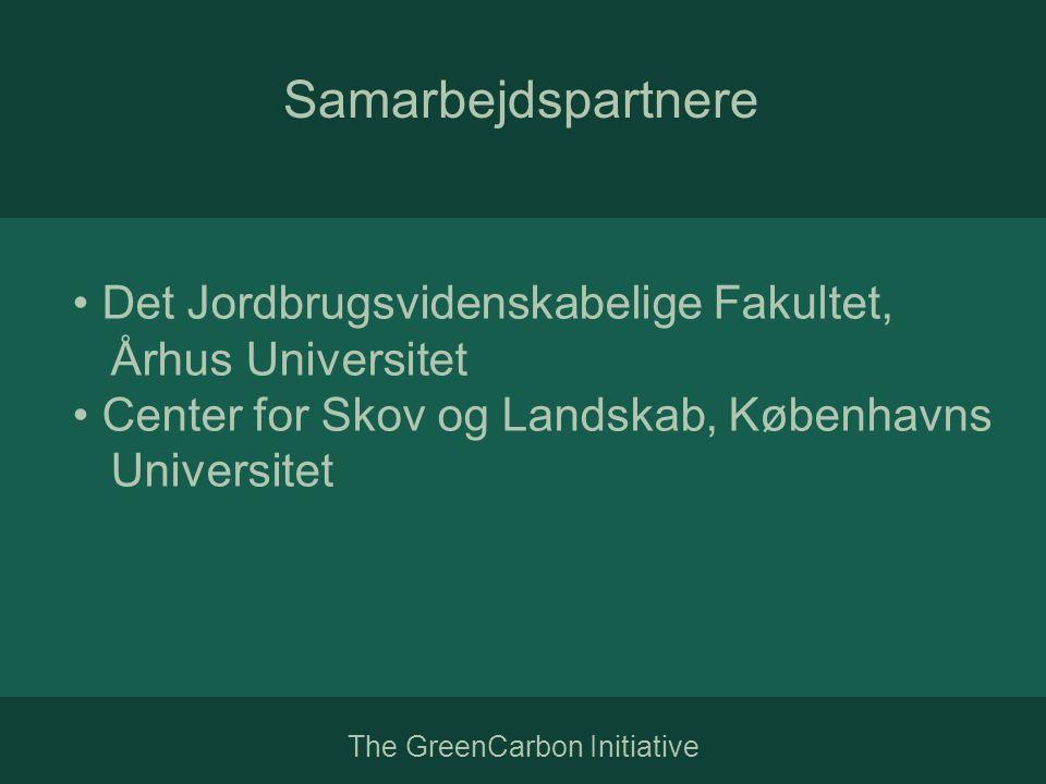The GreenCarbon Initiative Samarbejdspartnere • Det Jordbrugsvidenskabelige Fakultet, Århus Universitet • Center for Skov og Landskab, Københavns Universitet