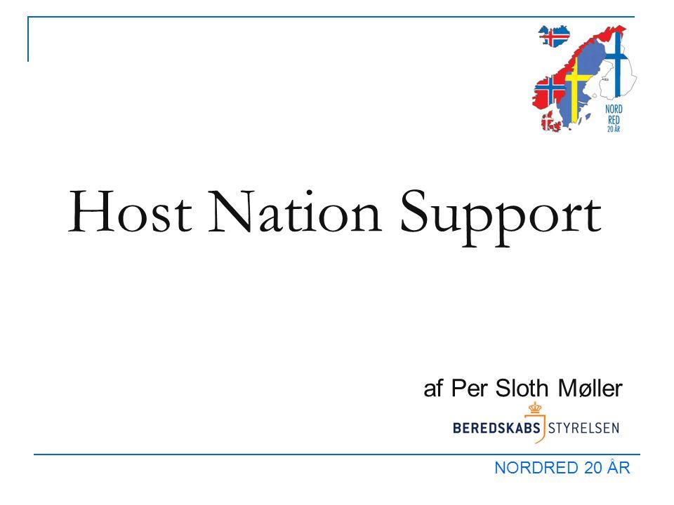 NORDRED 20 ÅR Host Nation Support af Per Sloth Møller