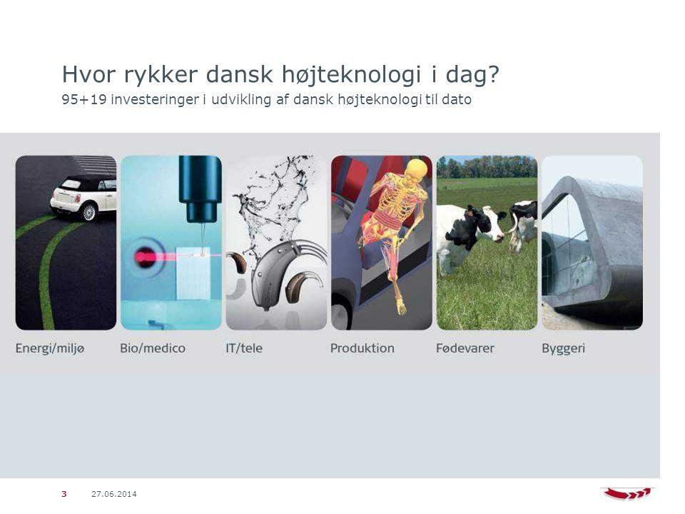 27.06.20143 Hvor rykker dansk højteknologi i dag.