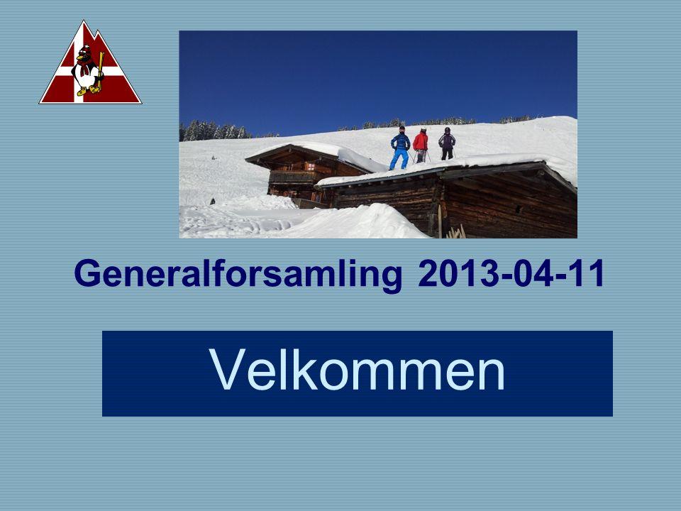 Generalforsamling 2013-04-11 Velkommen