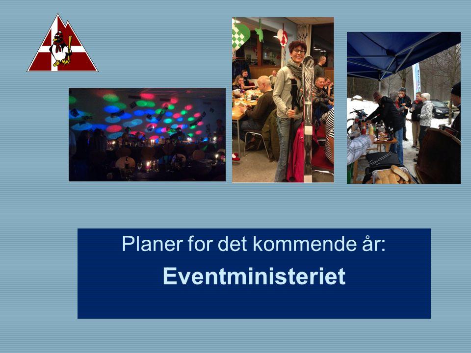 Planer for det kommende år: Eventministeriet