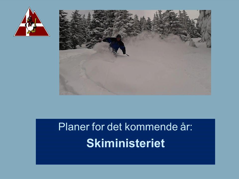 Planer for det kommende år: Skiministeriet