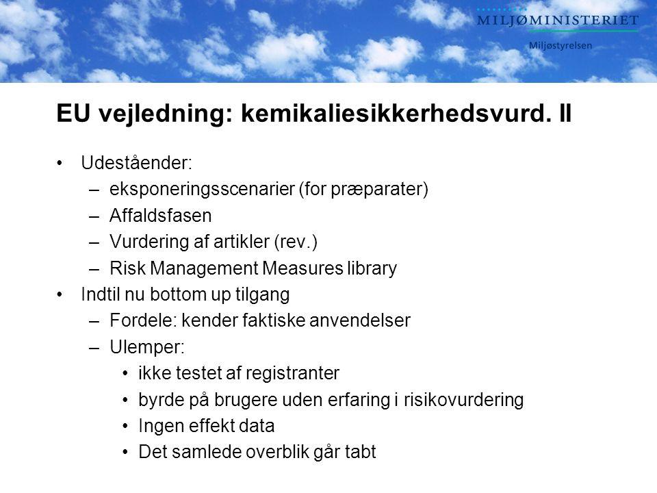 EU vejledning: kemikaliesikkerhedsvurd.