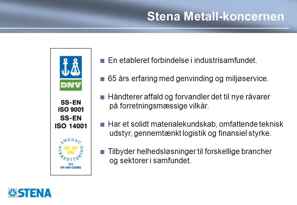 Stena Metall-koncernen  En etableret forbindelse i industrisamfundet.