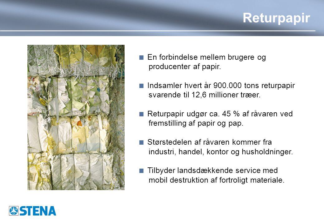 Returpapir  En forbindelse mellem brugere og producenter af papir.