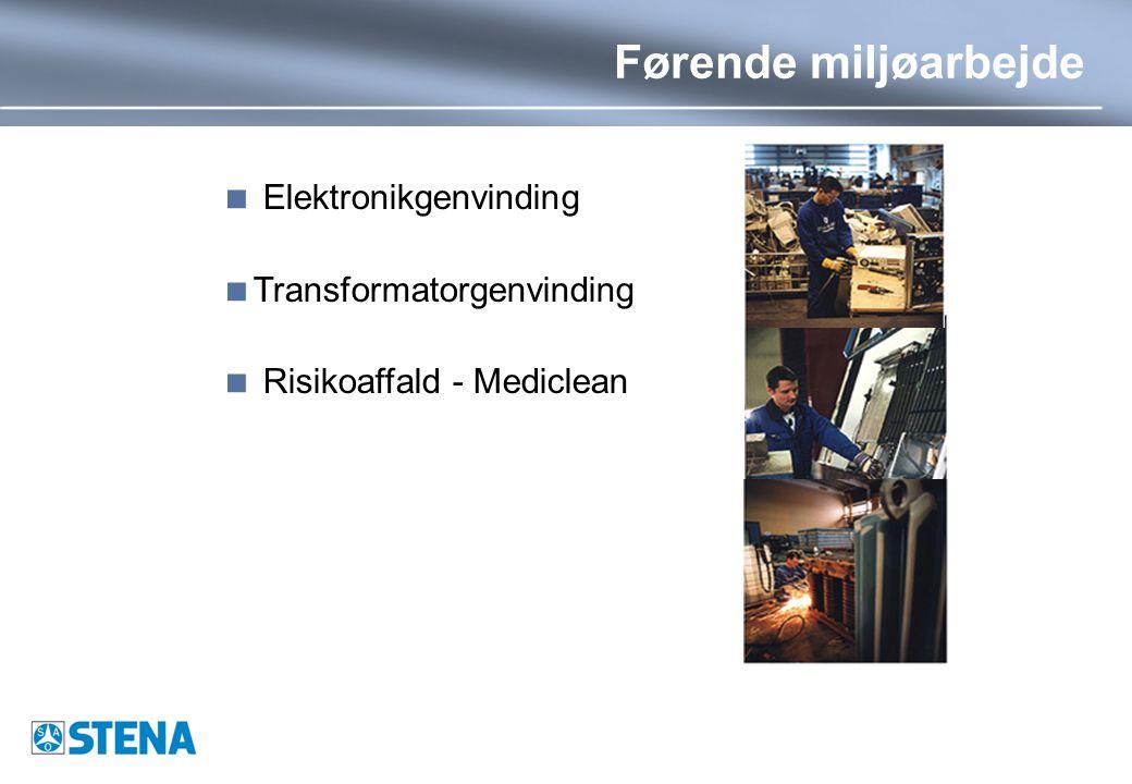  Elektronikgenvinding  Transformatorgenvinding  Risikoaffald - Mediclean Førende miljøarbejde