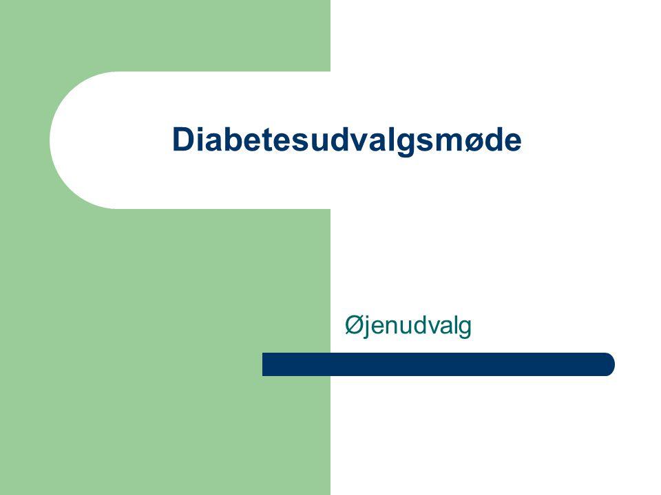 Diabetesudvalgsmøde Øjenudvalg