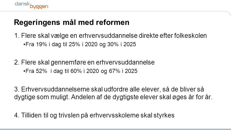 Regeringens mål med reformen 1.
