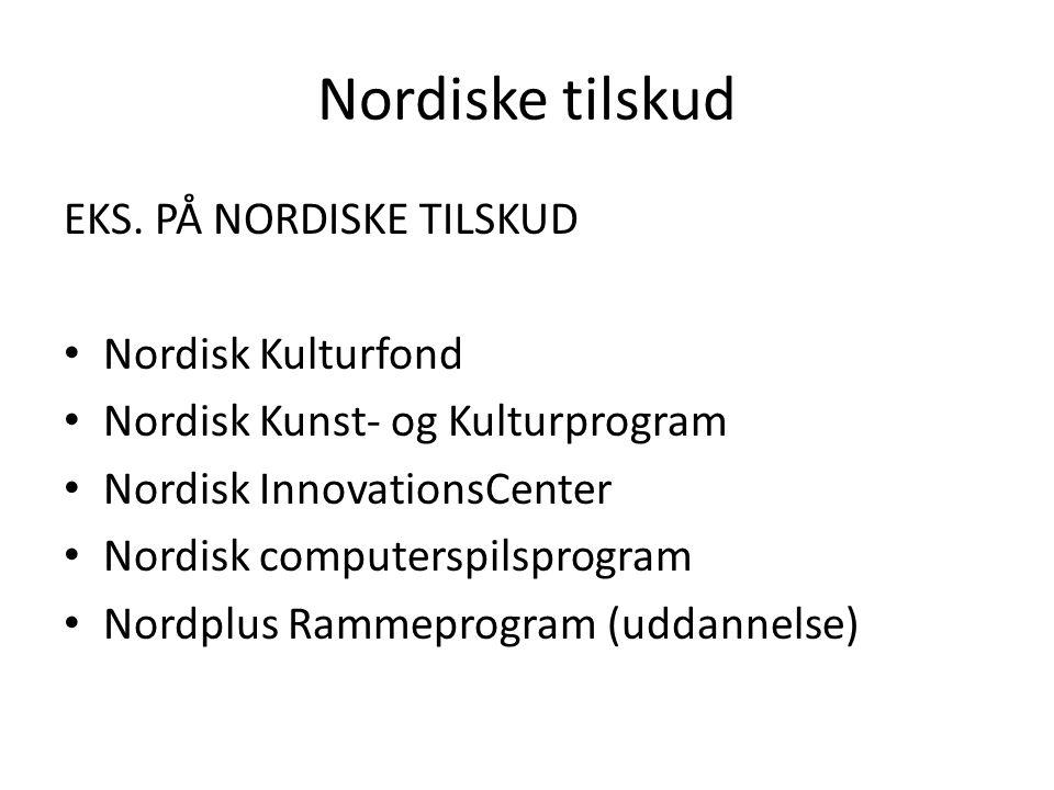 Nordiske tilskud EKS.
