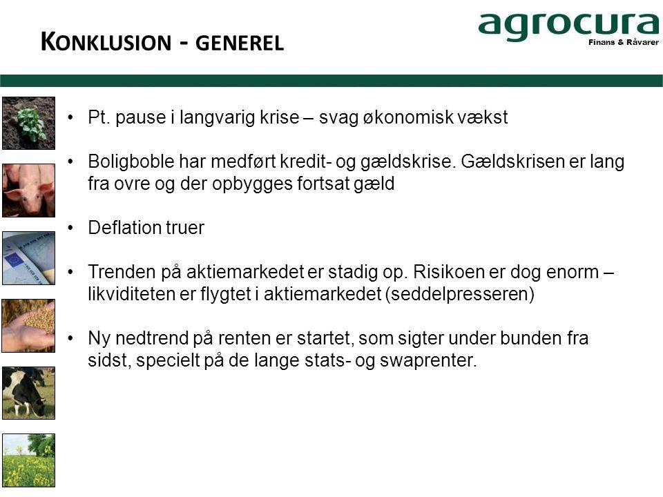 Finans & Råvarer K ONKLUSION - GENEREL •Pt.