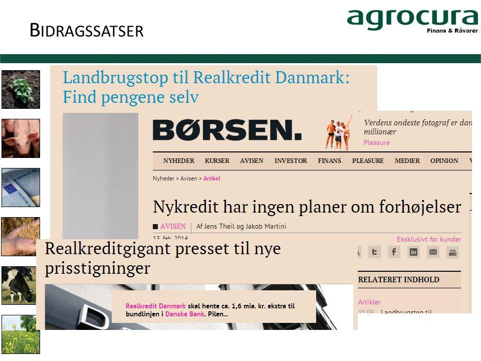 Finans & Råvarer B IDRAGSSATSER
