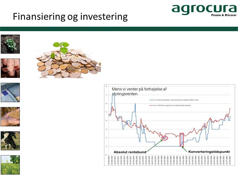 Finans & Råvarer Mens vi venter på forhøjelse af styringsrenten Finansiering og investering