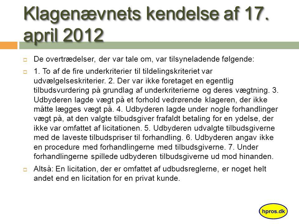 Klagenævnets kendelse af 17.