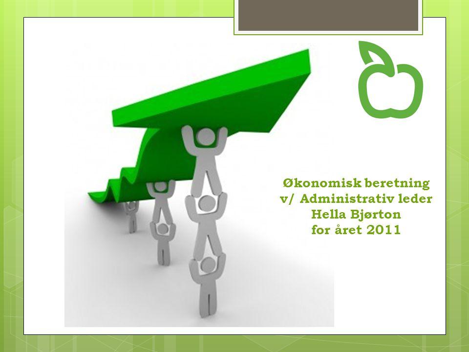 Økonomisk beretning v/ Administrativ leder Hella Bjørton for året 2011
