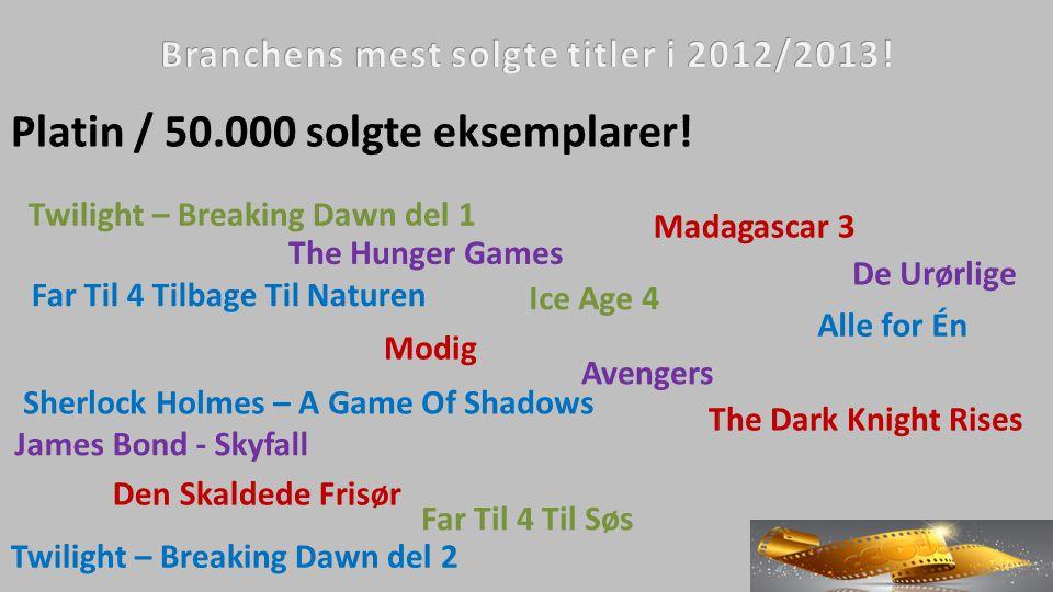 Platin / 50.000 solgte eksemplarer.