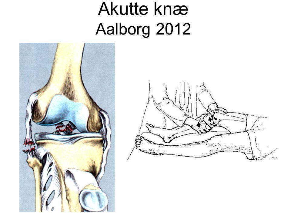 Referenceprogram for ligamentskader i knæet Diagnostik af ligamentskader i knæet Rotations stabilitet • Måles bedst med patienten på maven • Måles ved 30°, 60° og 90° fleksion