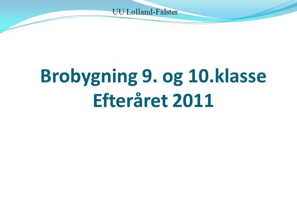 Brobygning 9. og 10.klasse Efteråret 2011 UU Lolland-Falster