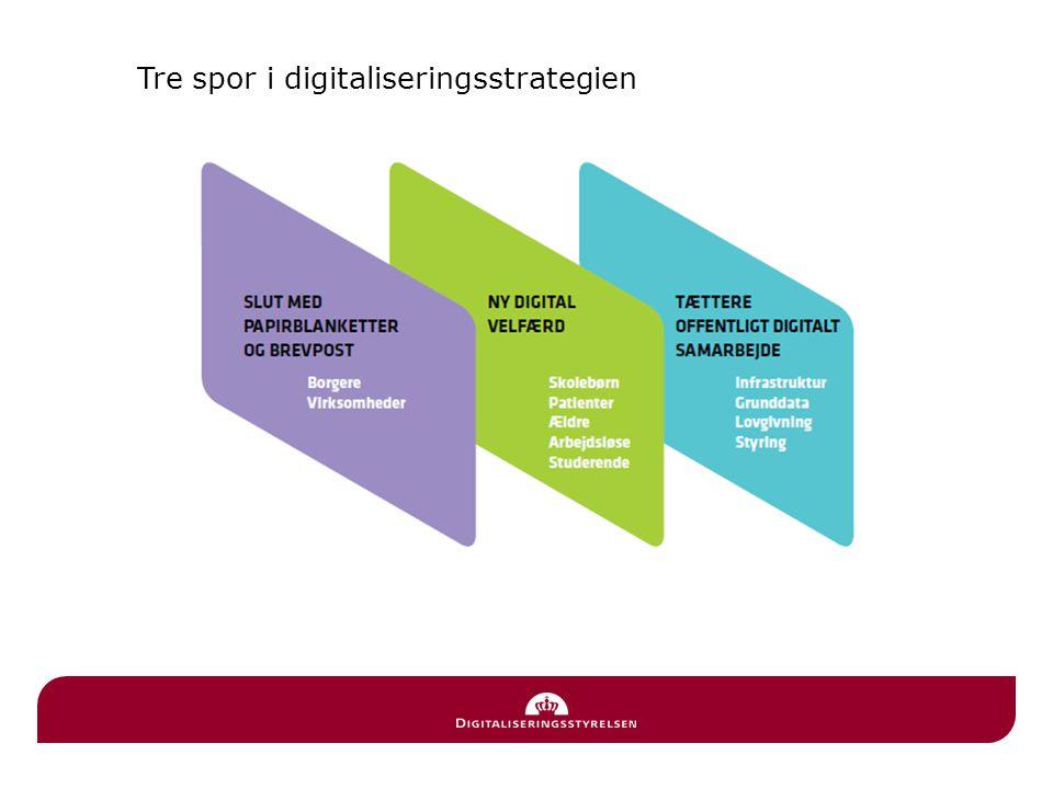 Tre spor i digitaliseringsstrategien