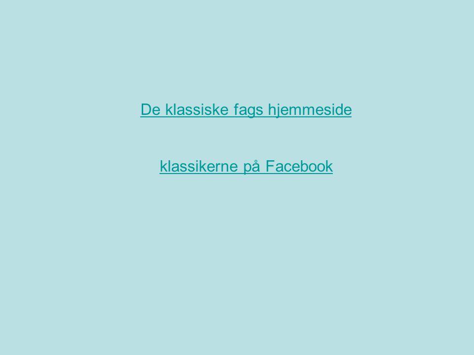 De klassiske fags hjemmeside klassikerne på Facebook