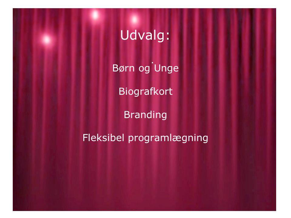 Udvalg: Børn og Unge Biografkort Branding Fleksibel programlægning.