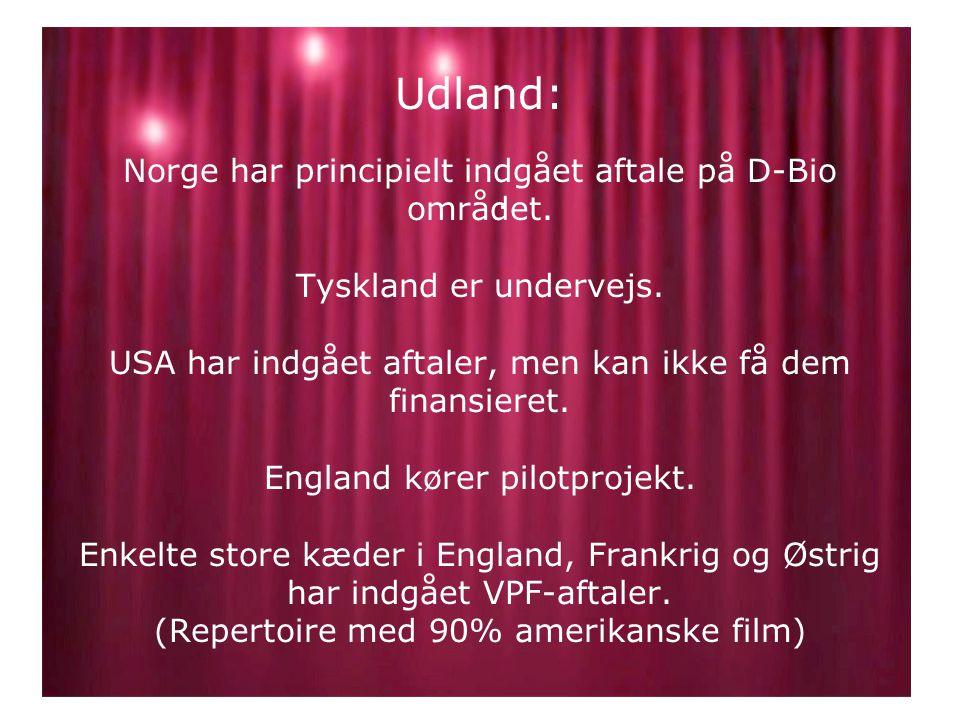 Udland: Norge har principielt indgået aftale på D-Bio området.