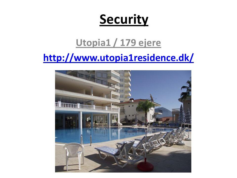 Security Utopia1 / 179 ejere http://www.utopia1residence.dk/