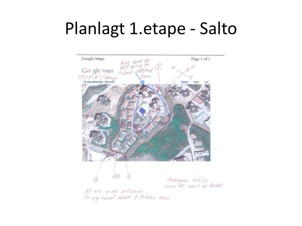 Planlagt 1.etape - Salto