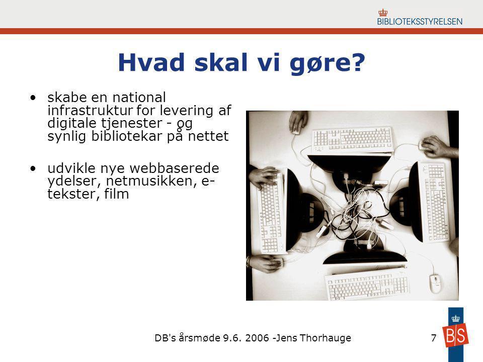 DB s årsmøde 9.6. 2006 -Jens Thorhauge7 Hvad skal vi gøre.